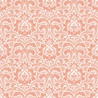 Napkins 33x33 cm - Wallpaper Pattern Salmon