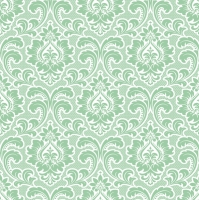 Napkins 33x33 cm - Wallpaper Pattern Mint