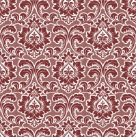 Napkins 33x33 cm - Wallpaper Pattern Claret
