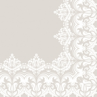 Lunch Servietten Ornament Border Beige
