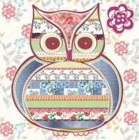 Lunch Servietten Patterned Owl