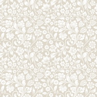 Servietten 33x33 cm - Romantic Meadow Beige