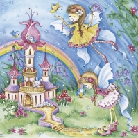 Servietten 33x33 cm - Magic Fairies with Castle