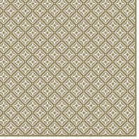 Servietten 33x33 cm - Geometric Tiles Gold