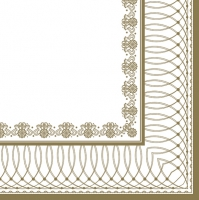Napkins 33x33 cm - Gold Graphic Frame