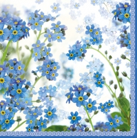Lunch Servietten Springtime blue