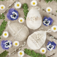 Servietten 33x33 cm - Lacy & Linen Easter Eggs Arrangement