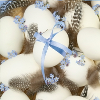Servietten 33x33 cm - Eggs on Quail Feathers