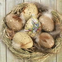 Servietten 33x33 cm - Brown Eggs in Nest