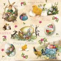 Servietten 33x33 cm - Happy Easter Animals