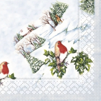 Tissue Servietten 33x33 cm - Wintervogel