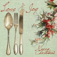 Linclass napkins 40x40 cm - Love & Joy