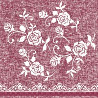 100 Tissue Lunch Servietten - LACE bordeaux