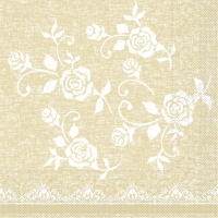 100 Tissue Lunch Servietten LACE beige