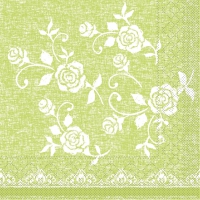 100 Tissue Lunch Servietten - LACE Limette