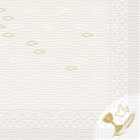 Tissue napkins 33x33 cm - Kommunion/Konfirmation  (Fische)