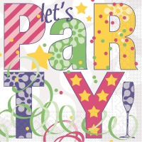 Tissue Servietten 33x33 cm - Let´s PARTY  (pink/violett)