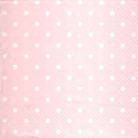 Lunch Servietten Hearts&Dots pink