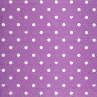 Lunch Servietten Hearts&Dots purple