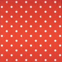 Lunch Servietten Hearts&Dots red