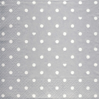 Lunch Servietten Hearts&Dots silver