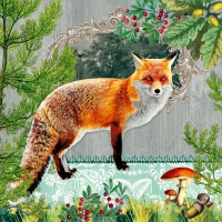 Servietten 33x33 cm - Fox Portrait