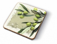 Cork Coaster - Greek Olives