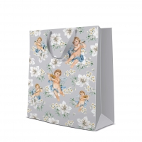 10 gift bags - Angels in Flowers silver