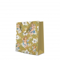 10 gift bags - Angels in Flowers gold