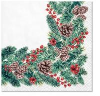 Servietten 25x25 cm - Winter Branches
