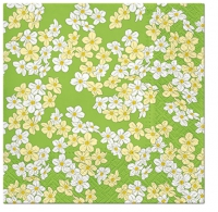 Servietten 25x25 cm - Floral Carpet (green)