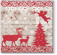 Servietten 25x25 cm - Christmas Forest