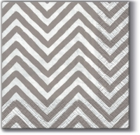 Cocktail Servietten Big Chevron grey K