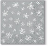 Servietten 25x25 cm - Stars Everywhere (silver)