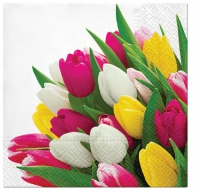 Servietten 25x25 cm - Bunch of Tulips