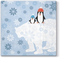 Servietten 33x33 cm - Winter Friends