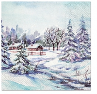 Servietten 33x33 cm - Winter Village