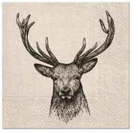 Servietten 33x33 cm - We care Deer