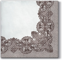Servietten 33x33 cm - Royal Lace (brown)