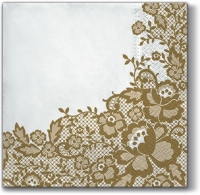 Lunch Servietten Wedding Chic (gold)