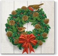 Lunch Servietten Wreath on Door