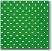 Lunch Servietten Dots intense green