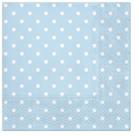 Servietten 33x33 cm - Dots (light blue)