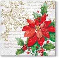 Lunch Servietten Stylish Poinsettia (white)