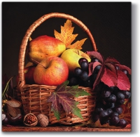 Servietten 33x33 cm - Autumn Basket