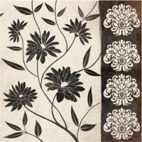 Lunch Servietten FLOWERY DECOR black