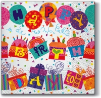 Servietten 33x33 cm - Unusual Birthday