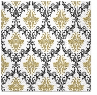 Servietten 33x33 cm - Royal Ornament gold