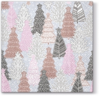 Lunch Servietten Glittery Spruces (silver)