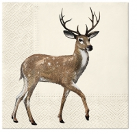 Servietten 33x33 cm - Walking Deer